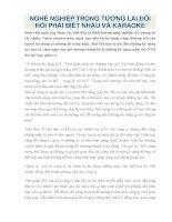 NGHỀ NGHIỆP TRONG TƯƠNG LAI đòi hỏi PHẢI BIẾT NHẬU và KARAOKE