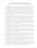 NGÂN HÀNG CÂU HỎI THI CÔNG CHỨC 2013 LĨNH VỰC CHUYÊN NGÀNH: PHÁT TRIỂN NÔNG THÔN