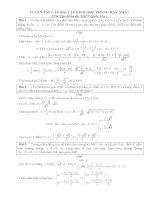 Tuyển tập các bài toán hình học phẳng hay nhất