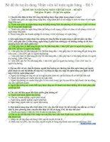 Bộ đề thi tuyển dụng nhân viên kế toán ngân hàng  đề 5