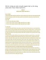 Đề thi và đáp án môn chuyên ngành Nội vụ thi công chức tỉnh Thừa Thiên Huế 2013