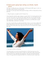 6 thói quen giúp bạn sống vui khoẻ