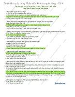 Bộ đề thi tuyển dụng nhân viên kế toán ngân hàng  đề 4