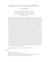 Nghiên cứu nhóm văn bản gia lễ khắc in