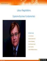 Labour negotiations