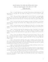 NGÂN HÀNG CÂU HỎI THI CÔNG CHƯC 2013 Lĩnh vực chuyên ngành: VĂN THƯ LƯU TRỮ
