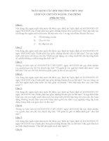 NGÂN HÀNG CÂU HỎI THI CÔNG CHỨC 2013  LĨNH VỰC CHUYÊN NGÀNH: TÀI CHÍNH (Phần thi Viết)