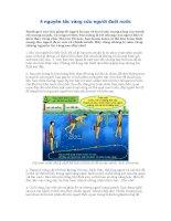 4 nguyên tắc vàng cứu người đuối nước