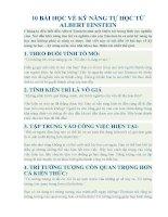 10 bài học về kỹ NĂNG tự học từ ALBERT EINSTEIN