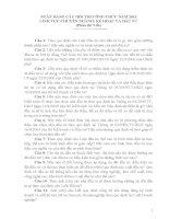 NGÂN HÀNG CÂU HỎI THI CÔNG CHỨC NĂM 2013 LĨNH VỰC CHUYÊN NGÀNH: KẾ HOẠC VÀ ĐẦU TƯ (Phần thi Viết)