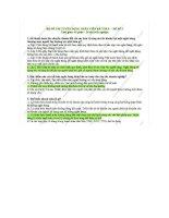 Đề thi tuyển dụng nhân viên kế toán ngân hàng số 1