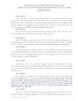 NGÂN HÀNG CÂU HỎI THI CÔNG CHỨC 2013 LĨNH VỰC CHUYÊN NGÀNH: PHÒNG CỐNG TỆ NẠN XÃ HỘI (Phần thi Viết)