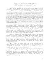 NGÂN HÀNG CÂU HỎI THI CÔNG CHỨC 2013 LĨNH VỰC CHUYÊN NGÀNH: THỦY LỢI