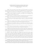 NGÂN HÀNG CÂU HỎI THI CÔNG CHỨC 2013 LĨNH VỰC CHUYÊN NGÀNH THANH TRA