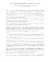NGÂN HÀNG CÂU HỎI VIÊT THI CÔNG CHỨC NĂM 2013 LĨNH VỰC CHUYÊN NGÀNH: CÔNG NGHIỆP