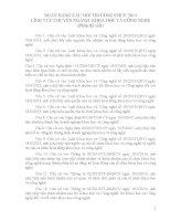 NGÂN HÀNG CÂU HỎI THI CÔNG CHỨC 2013 LĨNH VỰC CHUYÊN NGÀNH: KHOA HỌC VÀ CÔNG NGHỆ