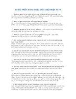 15 sự THẬT mà ta buộc phải chấp nhận nó