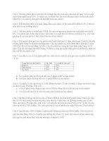 Bài tập môn Các thị trường và định chế tài chính