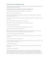 CÂU hỏi về cá TÍNH TRONG PHỎNG vấn