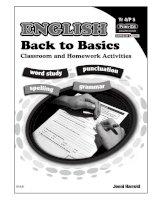 English back to basic quyển 4 luyện phát âm tiếng anh chuyên sâu