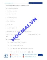 Tài liệu ôn hè toán 8 lên lớp 9