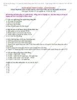 Đề thi tuyển dụng  CV quan hệ khách hàng năm 2013 vào ACB