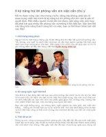 6 kỹ năng trả lời phỏng vấn xin việc cần chú ý