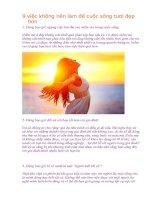 9 việc không nên làm để cuộc sống tươi đẹp hơn