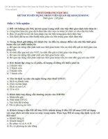 Đề thi tuyển dụng nhân viên quan hệ khách hàng vào ngân hàng vietcombank