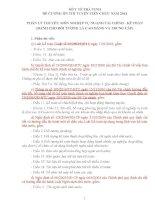 ĐỀ CƯƠNG ÔN THI TUYỂN VIÊN CHỨC NĂM 2014  PHẦN LÝ THUYẾT: MÔN NGHIỆP VỤ NGÀNH TÀI CHÍNH  KẾ TOÁN (DÀNH CHO ĐỐI TƯỢNG LÀ CAO ĐẲNG VÀ TRUNG CẤP)
