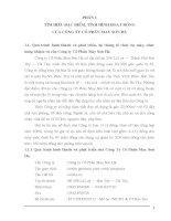 Báo cáo thực tập tại công ty CP may Sơn Hà