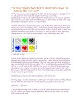 TƯ DUY SÁNG tạo THEO PHƯƠNG PHÁP 6 CHIẾC mũ tư DUY
