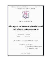 ĐIỀU TRỊ cơn TIM NHANH DO VÒNG vào lại NHĨ THẤT BẰNG hệ THỐNG MAPPING 3d
