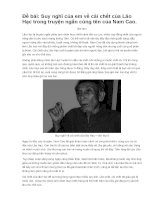 Đề bài : Suy nghĩ của em về cái chết của Lão Hạc trong truyện ngắn cùng tên của Nam Cao.