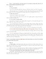 Bộ câu hỏi và đáp án môn Kiến thức chung dành cho công chức
