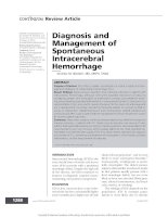 Diagnosis and management of spontaneous intracerebral hemorrhage