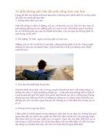 10 điều không nên làm để cuộc sống trọn vẹn hơn
