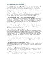 10 câu hỏi cấm kỵ TRONG PHỎNG vấn