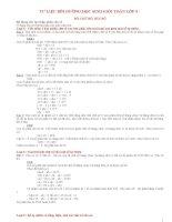 bài tập toán lớp 5 hay và khó