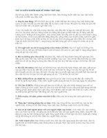TOP 10 điều KHIẾN bạn dễ DÀNG THẤT bại