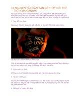 10 NGUYÊN tắc căn bản để THAY đổi THẾ GIỚI của GANDHI