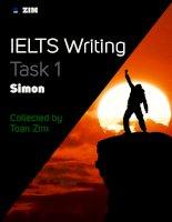 Tài liệu ielts writing task 1 của thầy Simon