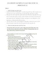 CÂU hỏi ôn tập môn lý LUẬN NHÀ nước và PHÁP LUẬT 1