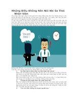 Những điều không nên nói khi sa thải nhân viên
