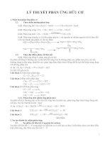 Cơ chế của các phản ứng hóa học hữu cơ và bài tập