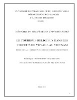 Mémoire de fin d'études universitaires le tourisme religieux dans les circuits de voyage au viet nam étude de cas   le pèlerinage des bouddhistes vietnamiens