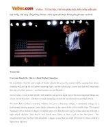 """Học Tiếng Anh cùng Tổng thống Obama: """"Mọi người nên được hưởng nền giáo dục cao hơn"""""""