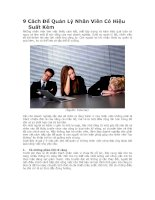 9 cách để quản lý nhân viên có hiệu suất kém