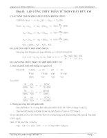 Bài tập lập công thức phân tử hợp chất hữu cơ