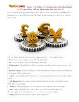 20 Từ vựng tiếng Anh sử dụng trong lĩnh vực Tiền tệ